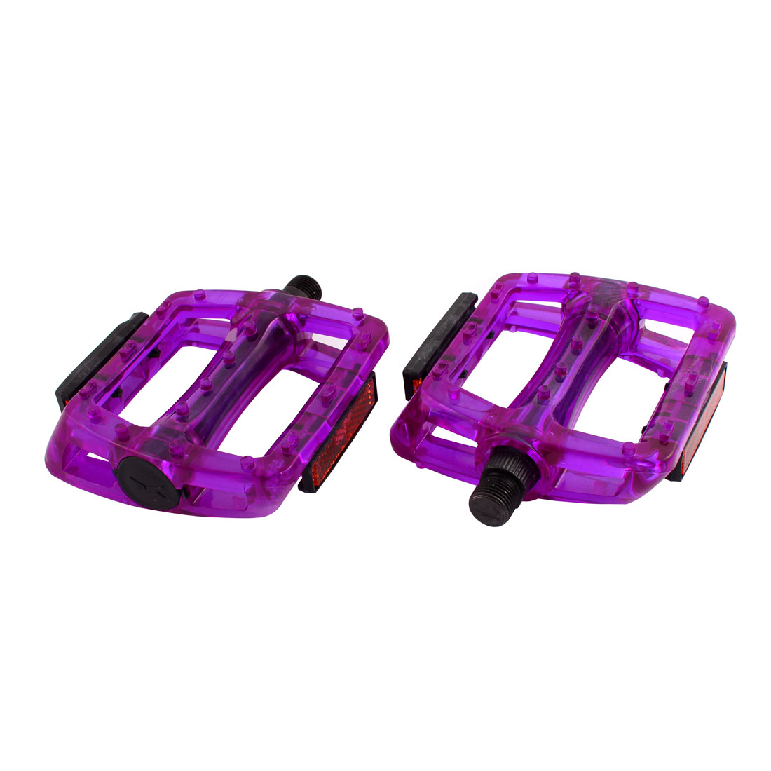 Purple Fixed Gear Bike Bicycle Fuchsia Rectangle Foot Plate Platform Pedal Pair