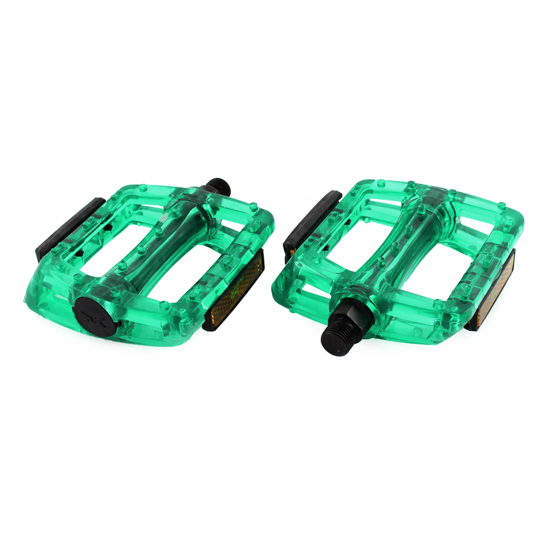 Pair FIXED GEAR Bike Bicycie Royal Green Plastic Platform Pedal Part