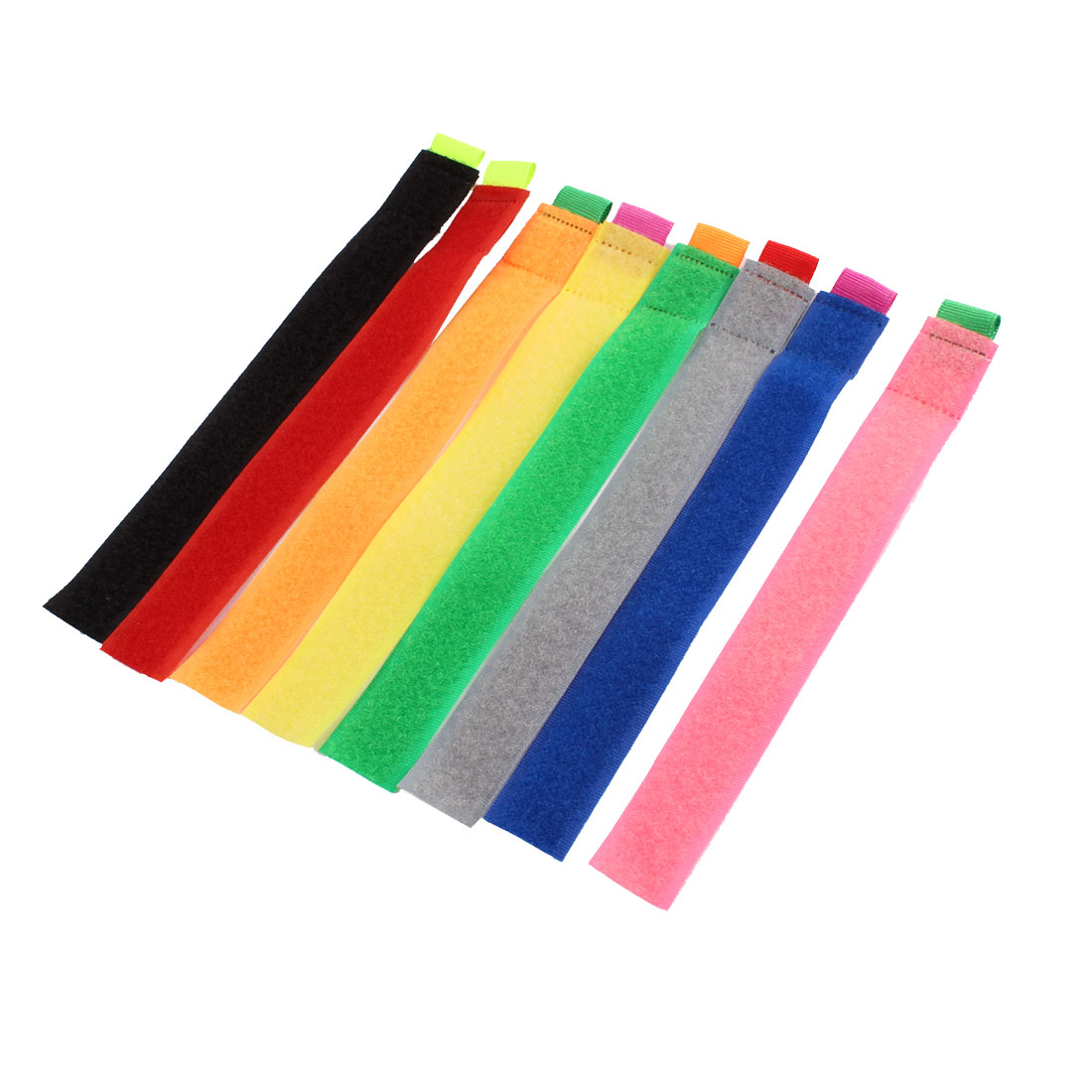 Multicolor Cable Power Wire Holder Management Marker Straps Ties 8 Pcs