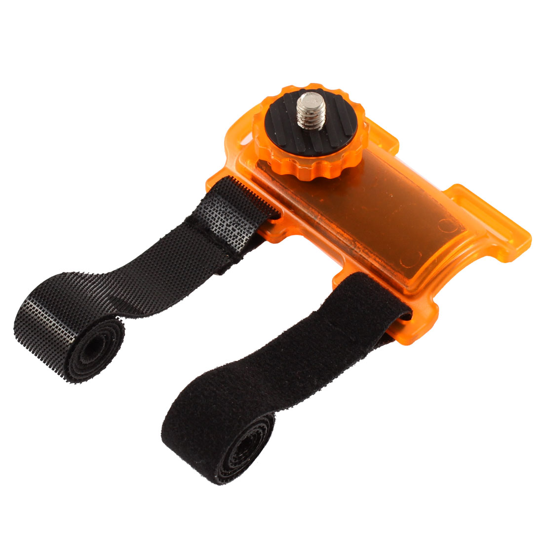 Orange Plastic Bicycle Pod Action Mount Bracket Holder Frame 500g Capacity w Nylon Straps for DSLR Camera Camcorder