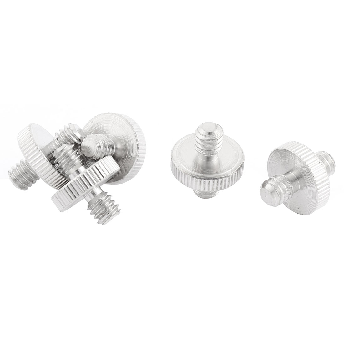 """Camera 1/4"""" to 1/4"""" Male/Male Thread Flash Light Stand Screw Adapter 5Pcs"""