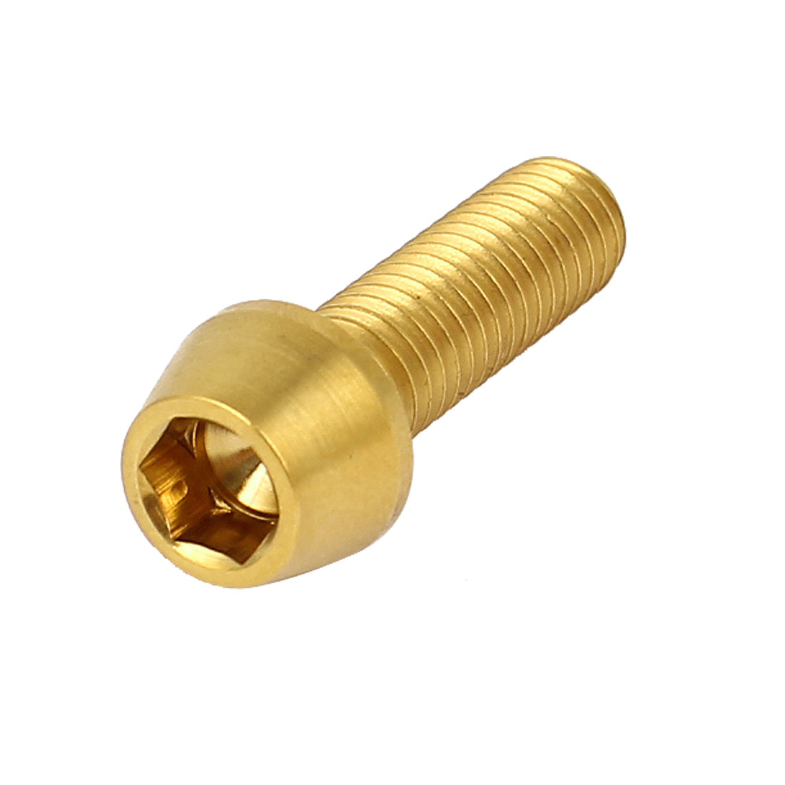 M6x20mm Gold Tone Titanium Ti Hex Socket Taper Head Bolts Bicycle Fasteners