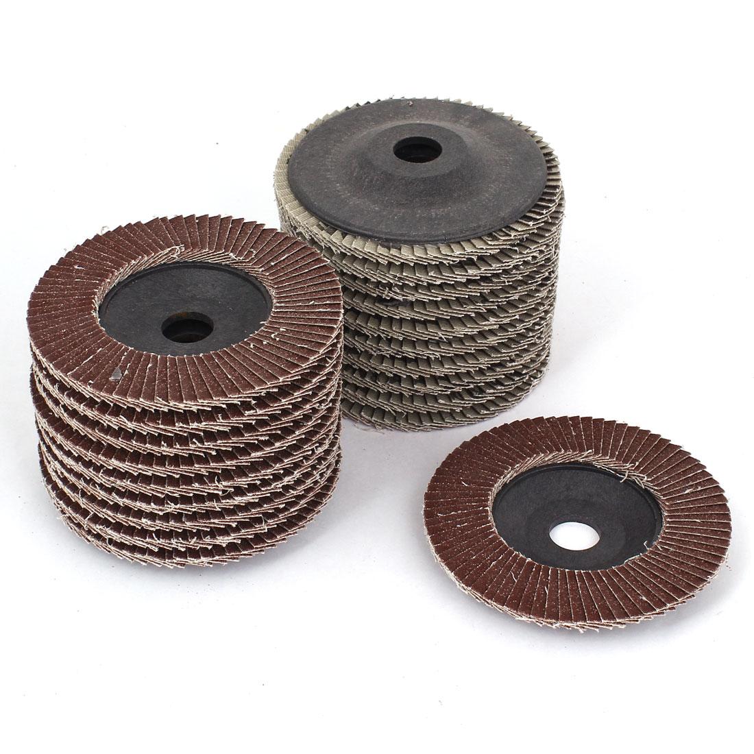 "20pcs 100mm 4"" Dia 16mm Bore 80 Grit Flap Sanding Discs Polishing Buffing Wheels"