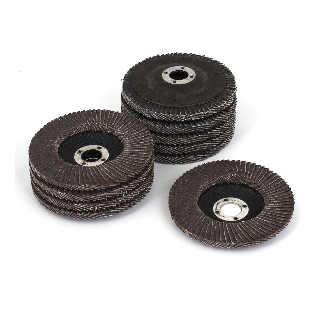 "10pcs 100mm 4"" Dia 16mm Bore 60 Grit Flap Sanding Discs Polishing Grinding Wheel"