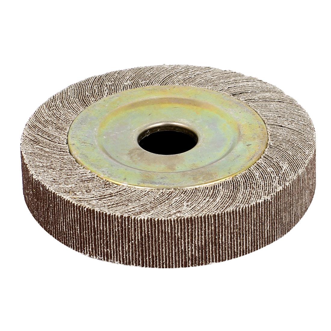 "130mm Dia 120 Grit 1"" Bore 25mm Thick Flap Sanding Disc Polishing Buffing Wheel"