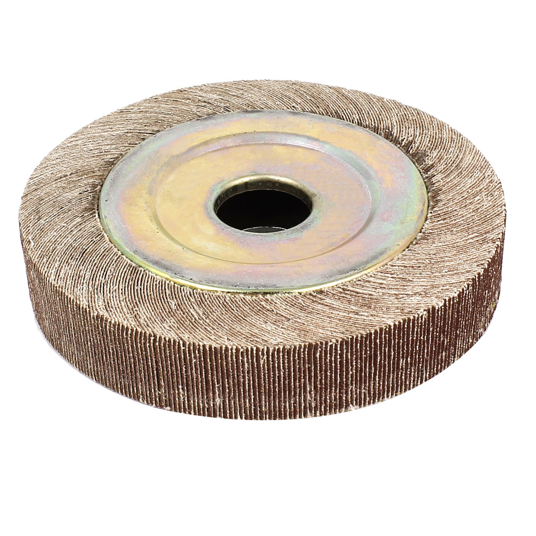 "130mm Dia 240 Grit 1"" Bore 25mm Thick Flap Sanding Disc Polishing Buffing Wheel"
