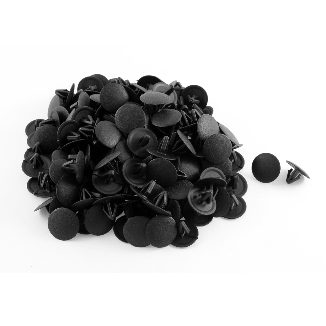 200 Pcs Black Plastic Rivet Trim Fastener Retainer Clips 11mm x 12mm x 25mm