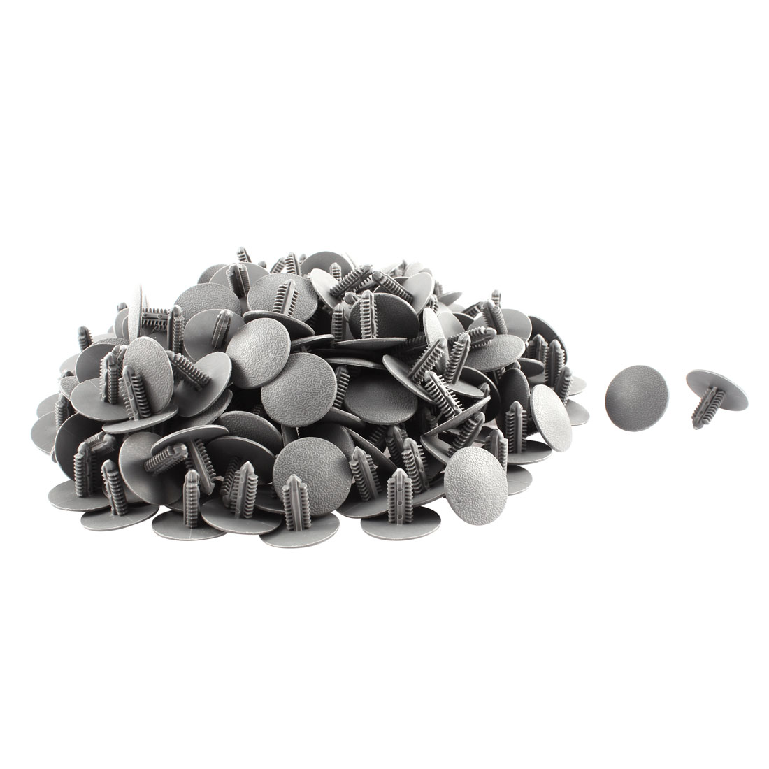 200 Pcs Gray Plastic Rivet Trim Fastener Retainer Clips 7mm x 17mm x 25mm