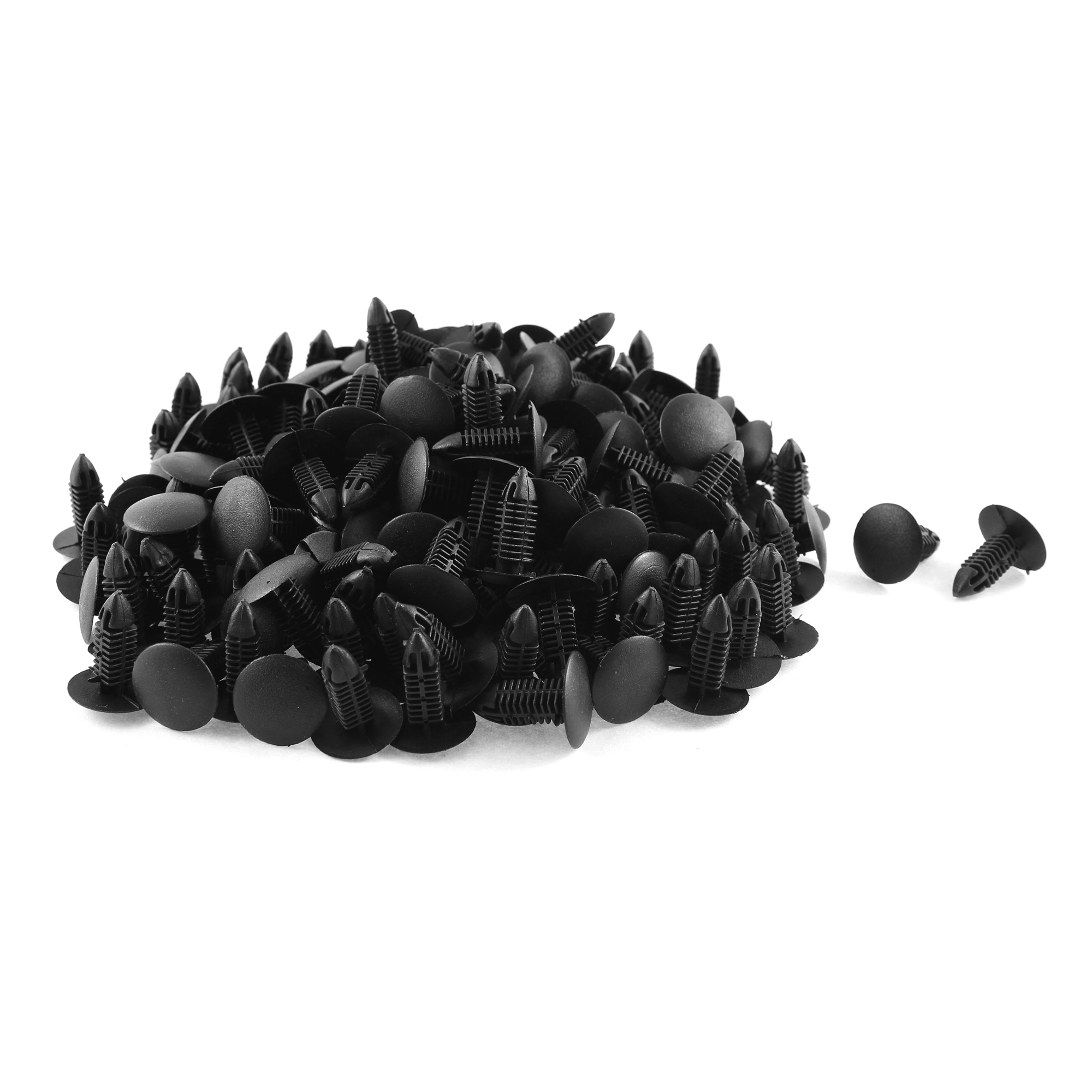 200 Pcs Black Plastic Rivet Trim Fastener Retainer Clips 7mm x 17mm x 20mm