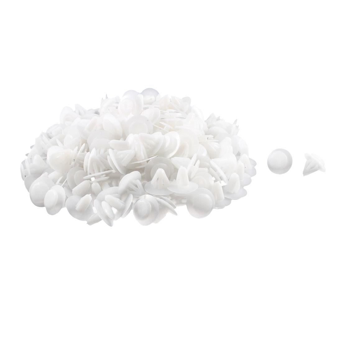 200 Pcs White Plastic Rivet Trim Fastener Retainer Clips 10mm x 13mm x 19mm