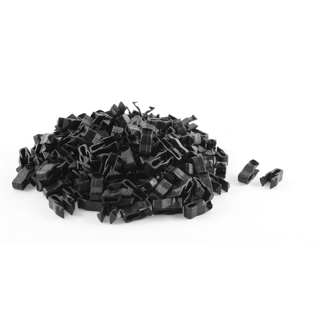 200 Pcs Black Plastic Rivet Trim Fastener Retainer Clips for 5mm Hole