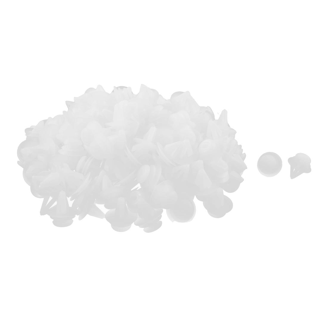 200 Pcs White Plastic Rivet Trim Fastener Retainer Clips 12mm x 15mm x 20mm