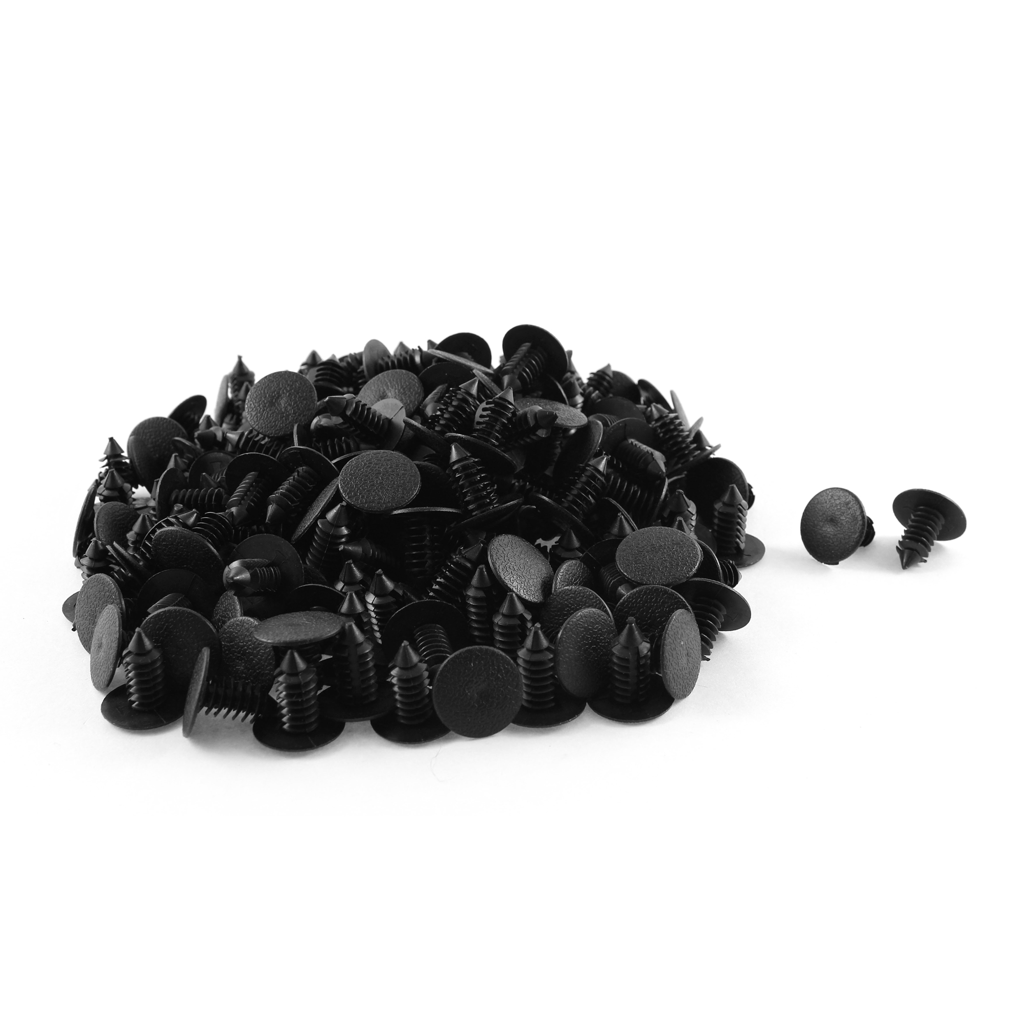 200 Pcs Black Plastic Rivet Trim Fastener Retainer Clips 8mm x 18mm x 19mm
