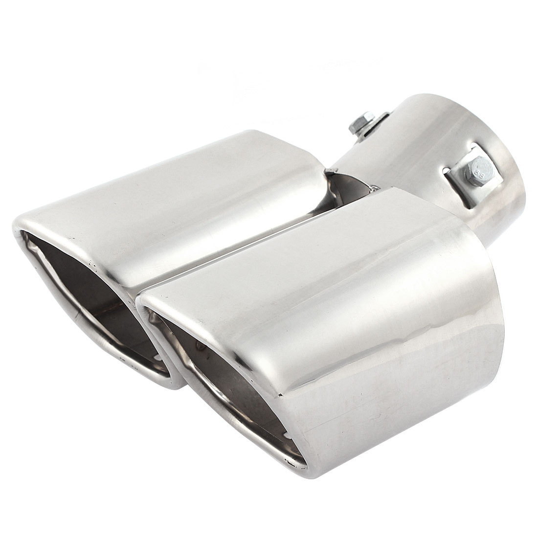 Auto Car 60mm Inlet Slant Double Tip Exhaust Muffler Tail Pipe for Honda
