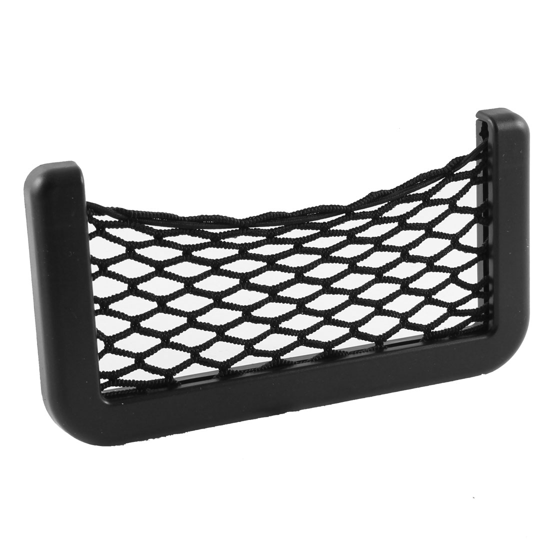 Van Black Plastic Elastic Nylon Net String Design Phone Card Bag Holder