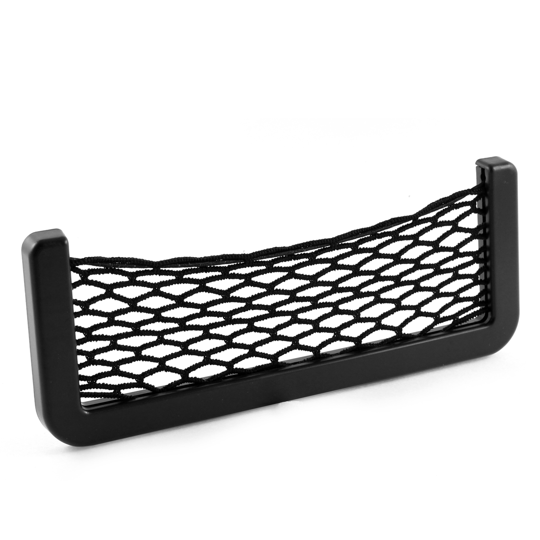 Van Black Plastic Stretchy Nylon Net String Design Phone Card Bag Holder