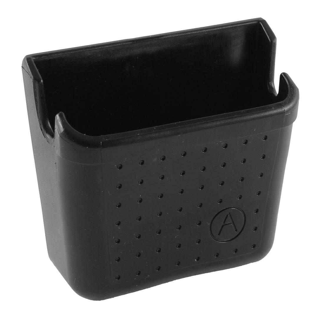 Car Windshield Backseat Black Plastic Adhesive Backed Bracket Phone Storage Holder