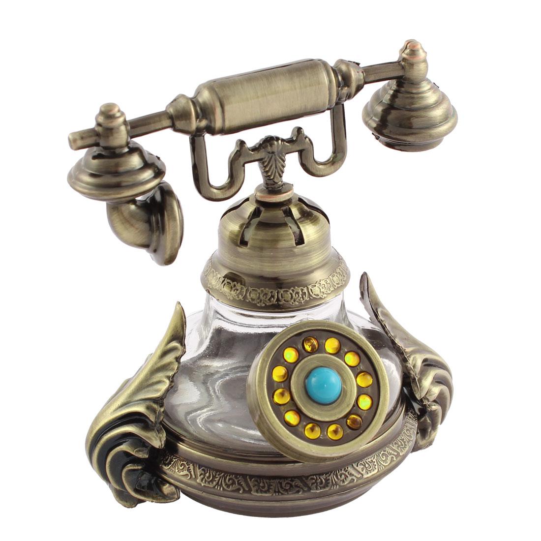 Auto Freshener Telephone Perfume Block Base Accessary Decoration Bronze Tone