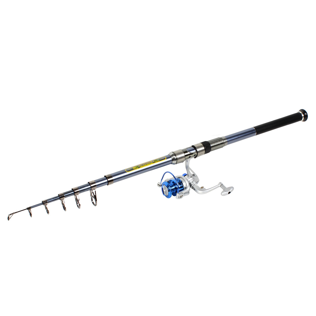 10Ft 7 Sections Telescopic Spinning Fish Rods Casting Pole Tackle Gray