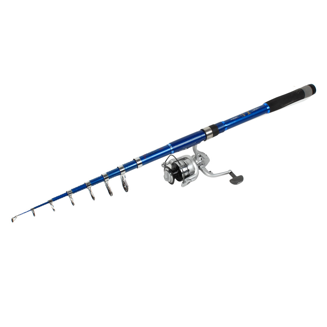12Ft 8 Sections Carbon Fiber Spinning Fishing Pole Casting Rod Blue