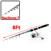 8Ft 7 Sections Carbon Telescopic Fishing Rod Spinning Casting Pole