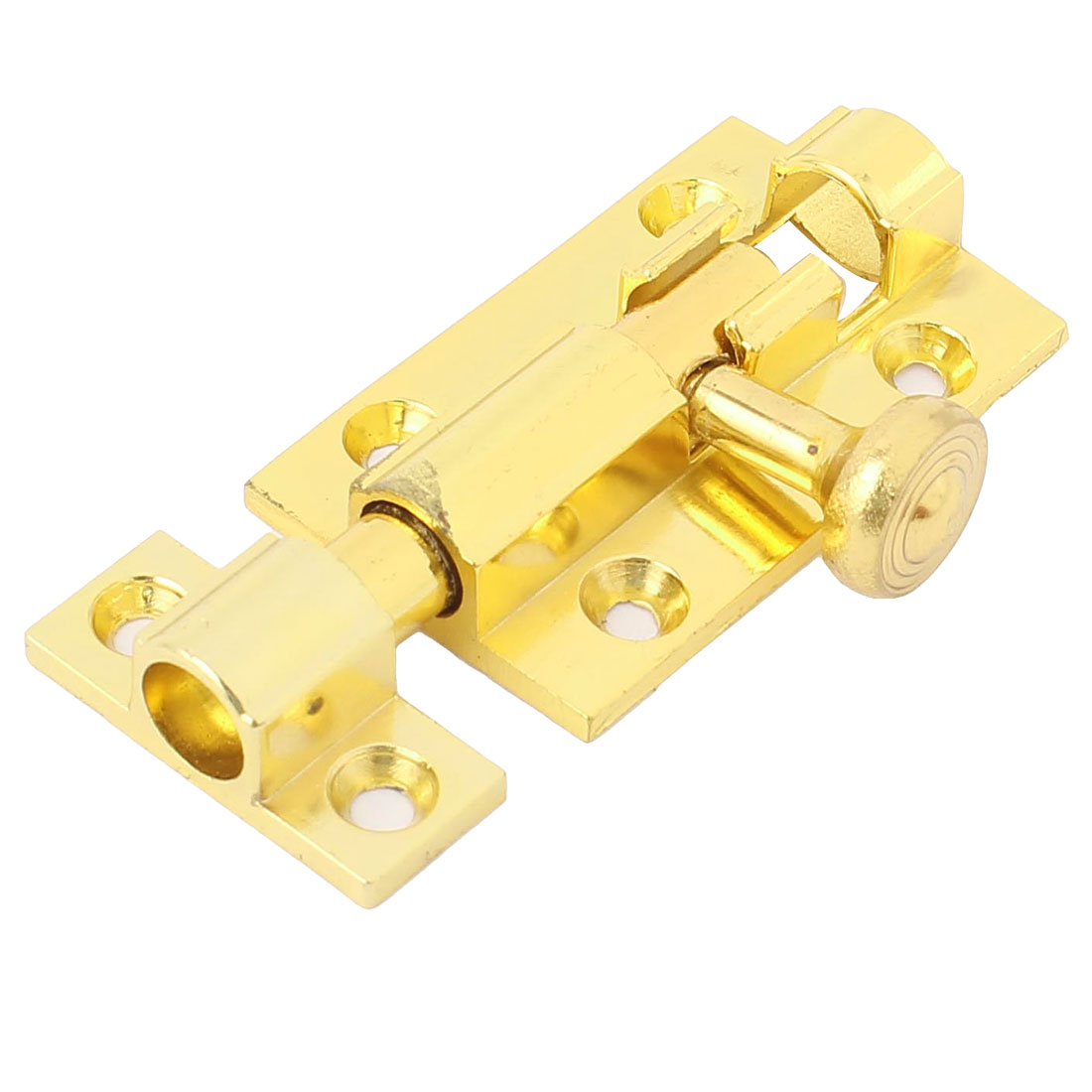 "Gold Tone Copper Door Sliding Lock Security Latch Barrel Bolt 2.5"" Length"