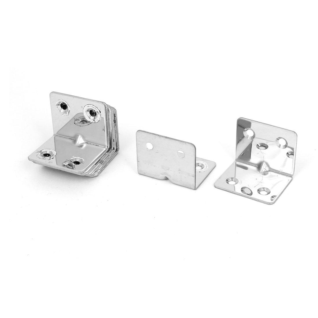 10pcs Furniture Shelf L Shaped Angle Brackets Corner Braces Supports 38x29mm