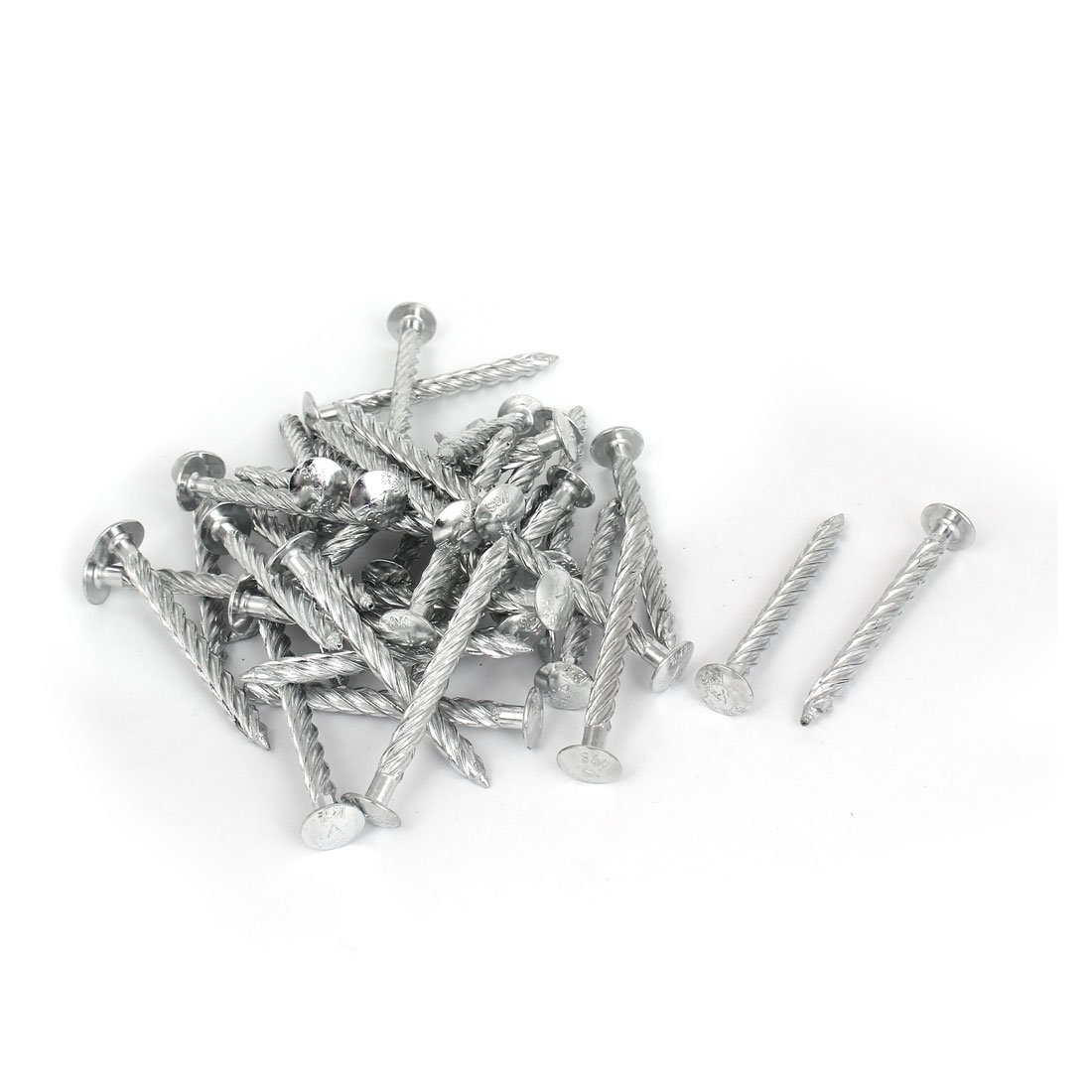 75mm Length x 7mm Dia Galvanised Square Twist Nails Spiral Screw 50pcs