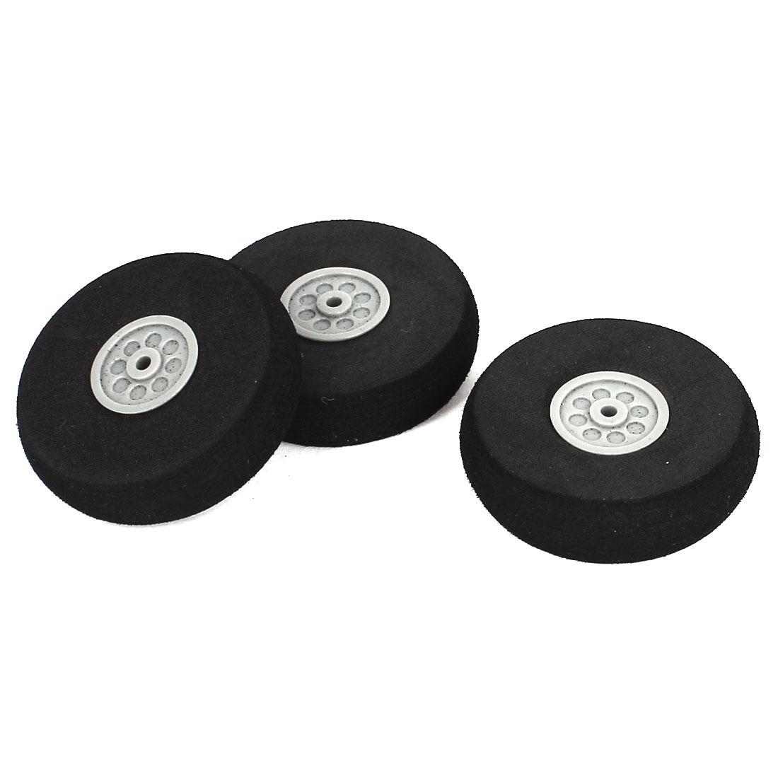 3PCS Diameter 40 x 3 x 11mm Sponge Wheels Parts for RC Plane