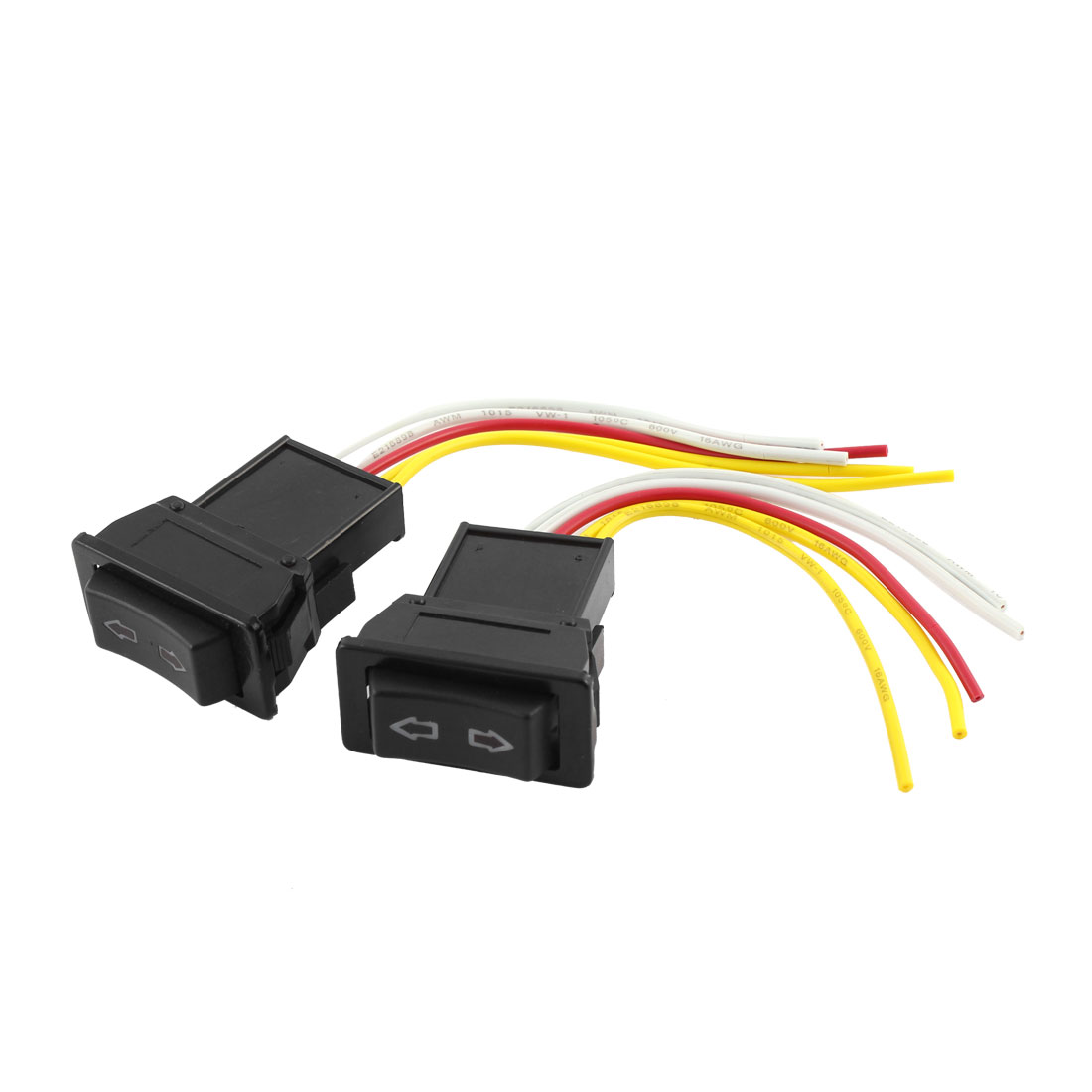 2pcs Car 5 Pins Window Glass Lifter Controller Switch Harness Cable