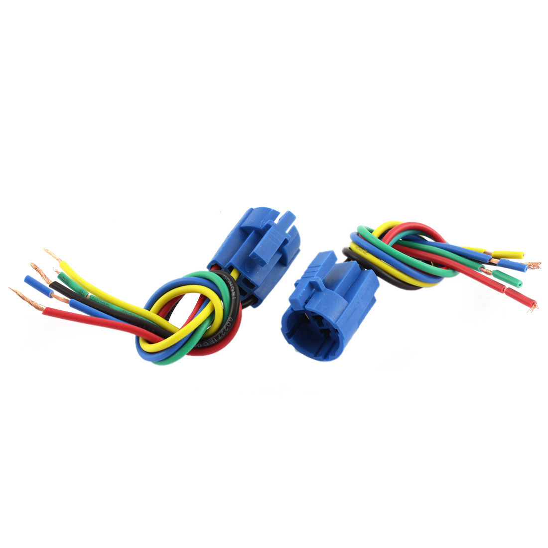 2PCS Car 19mm Socket Adapter Wire Harness for Metal Switch ON/OFF Buttons