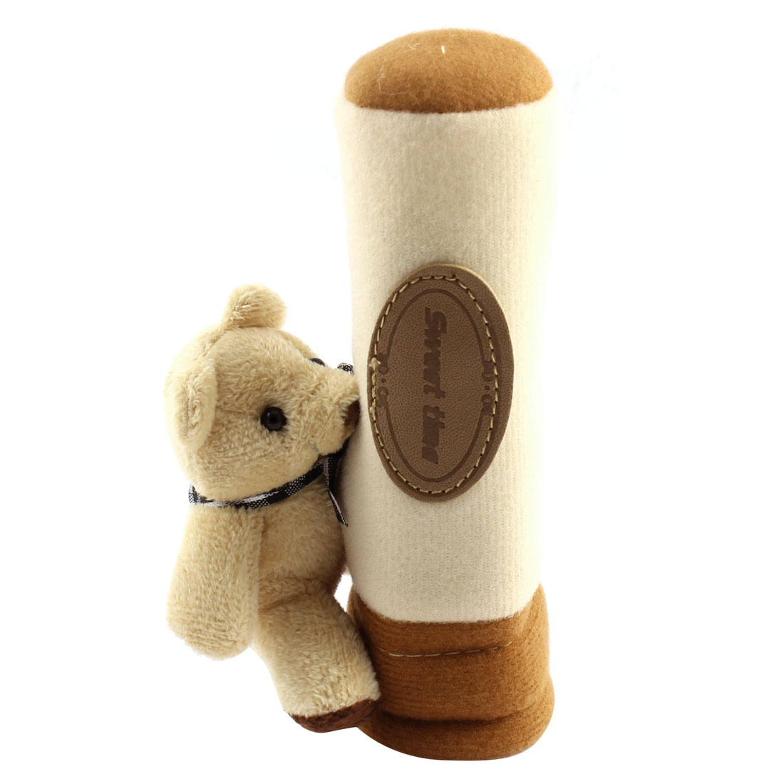 Car Internal Cute Bear Ornament Soft Gear Shift Knob Cover Sleeve Protector Beige