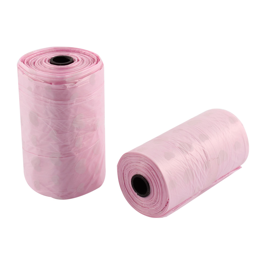 2PCS Car Interior Disposable Garbage Trash Waste Bag Roll Pink 30cm x 20cm
