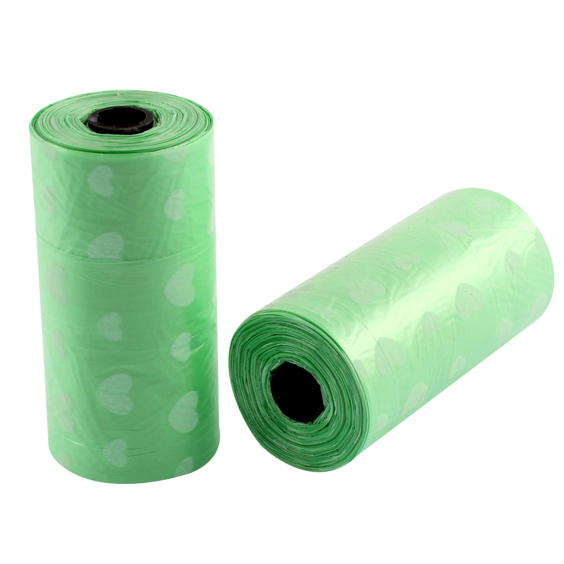 2PCS Auto Car Disposable Garbage Trash Waste Bag Roll Green 30cm x 20cm