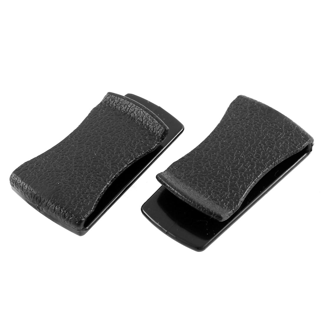 Multifunctional Self Adhesive Car Hook Bill Clip Card Glasses Holder Black 2PCS