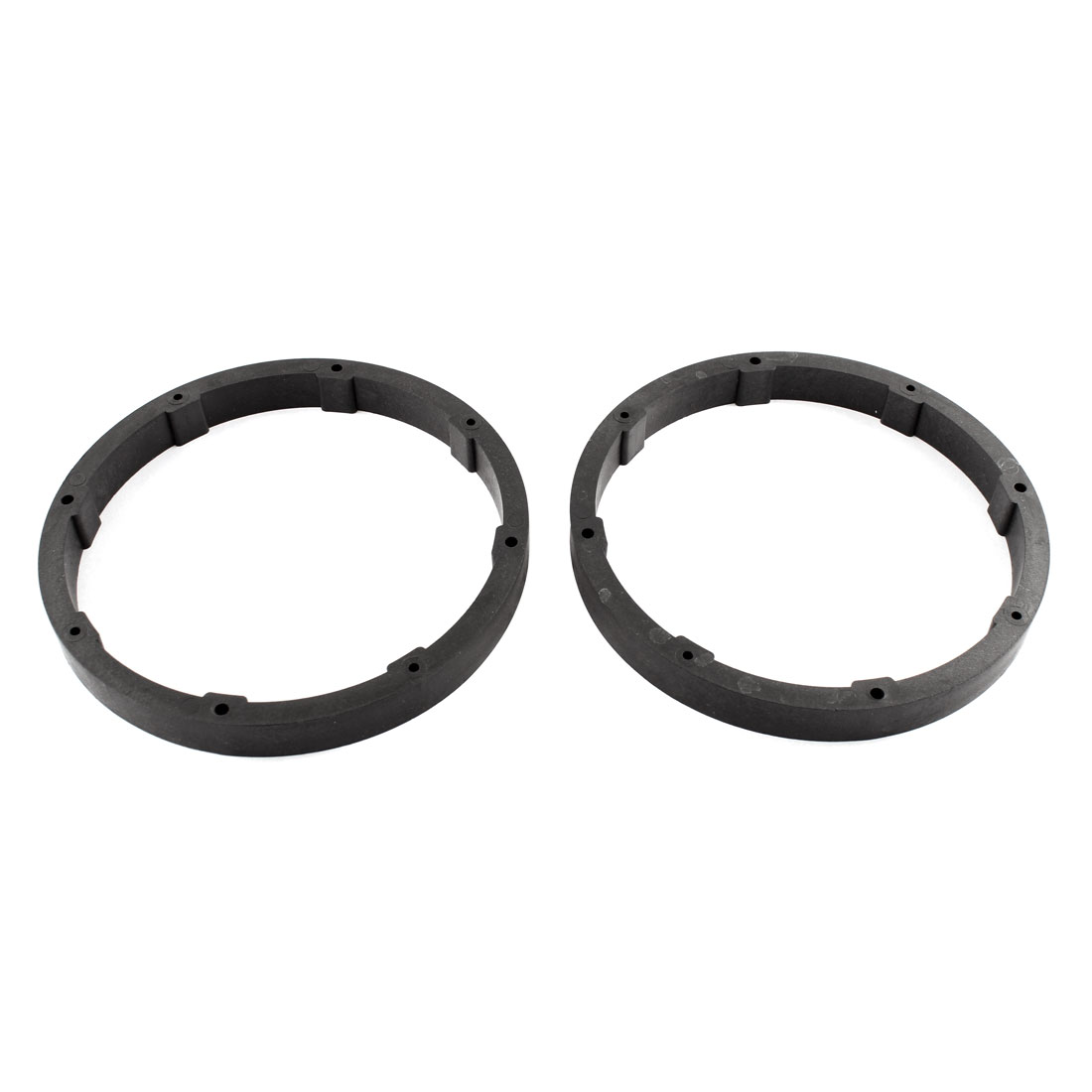 "Car Auto Black 6.5"" Plastic Round Speaker Spacers Ring 17mm Depth 2 Pcs"