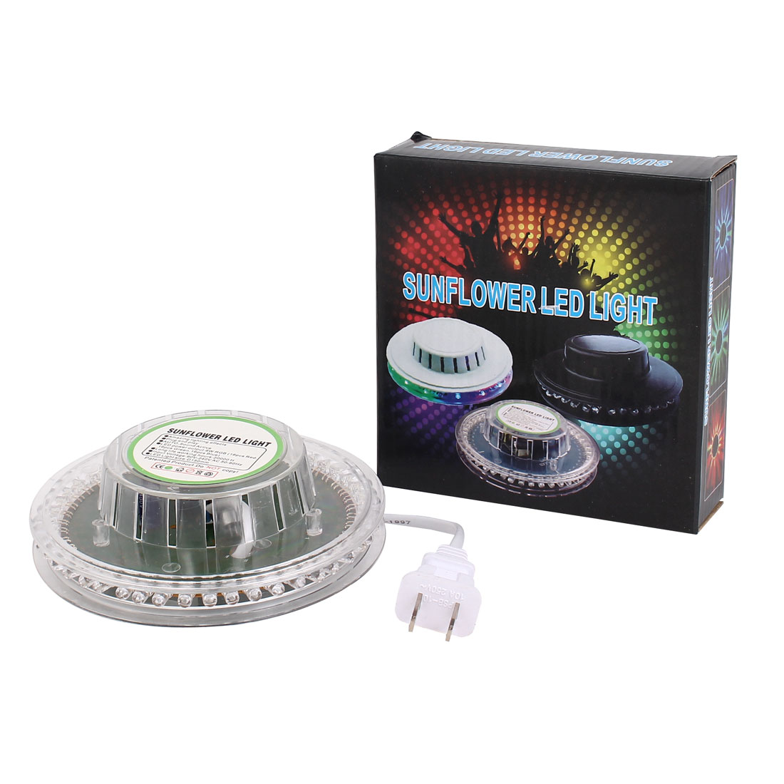 AC90V-240V 8W RGB Stage Light 48 LED Sunflower Effects Disco DJ Home Party Lamp