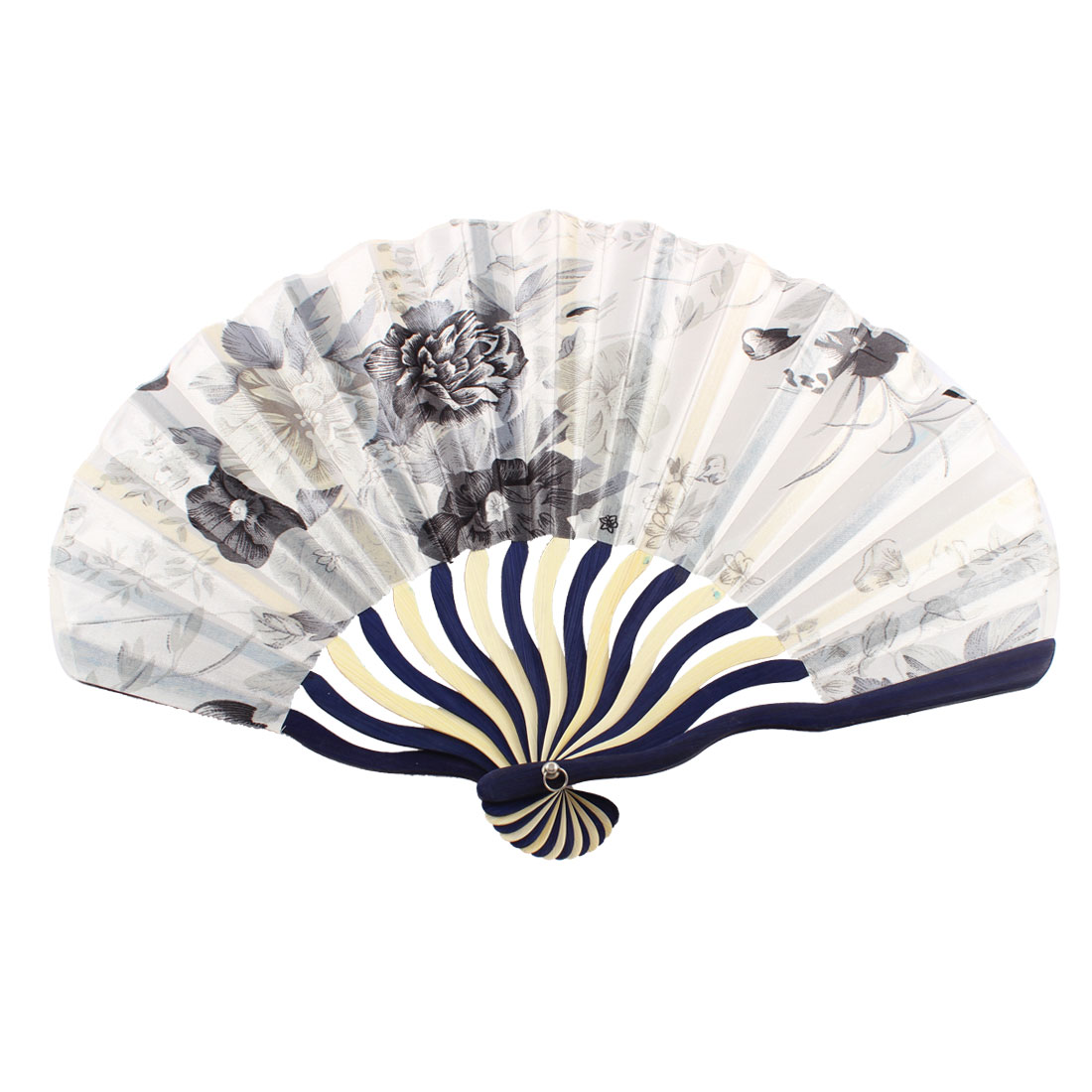 Dance Party Wedding Japanese Style Floral Printed Nylon Folding Hand Fan Gift