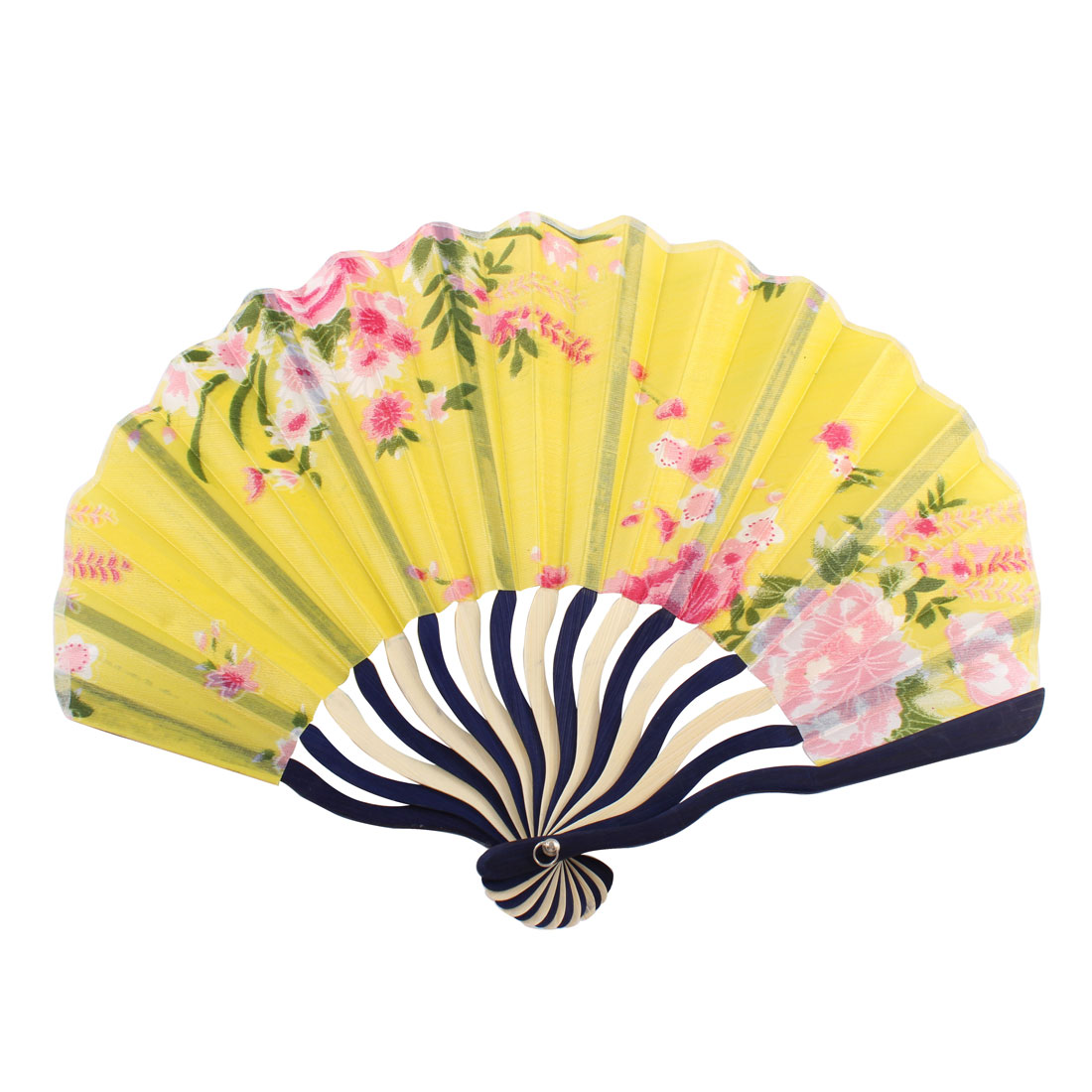 Chinese Style Floral Printed Bamboo Rib Portable Foldable Hand Fan Fans for Lady