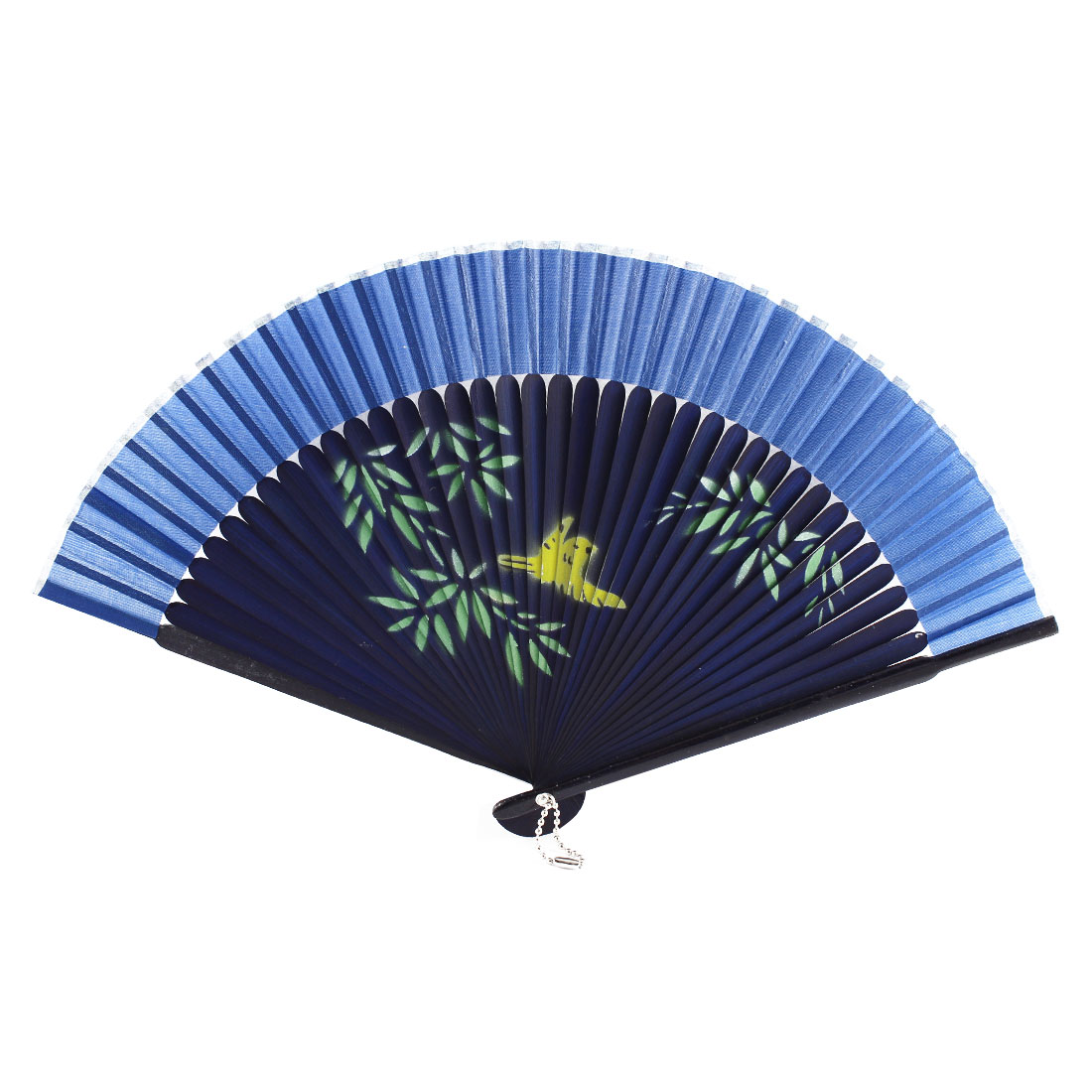 Chinese Style Women Summer Wedding Dancing Party Folding Hand Held Fan Gift Decoration Blue