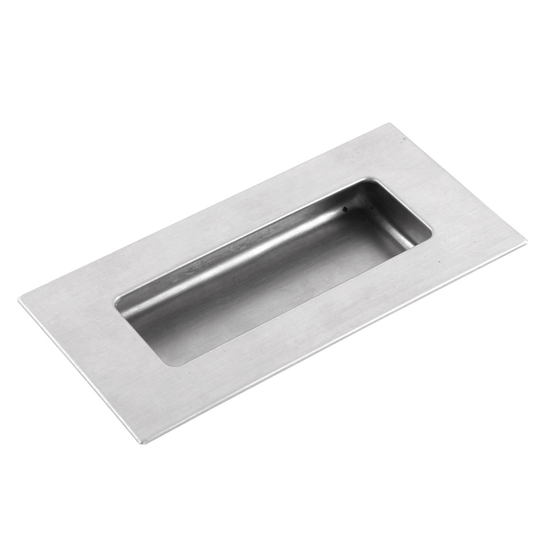 Stainless Steel Rectangular Drawer Door Flush Recessed Pull Handle 120mm x 60mm