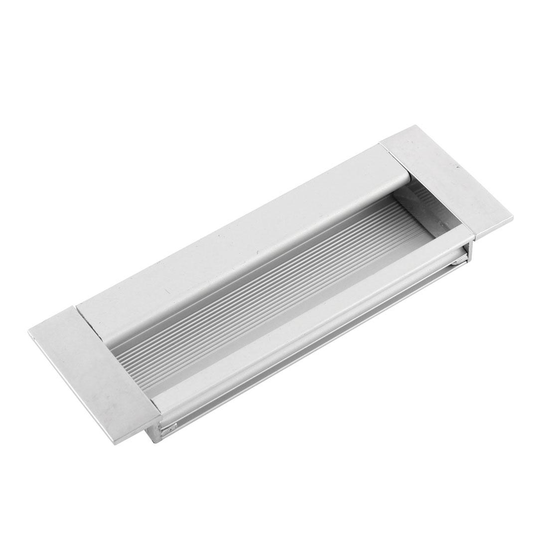 Aluminium Rectangular Drawer Door Flush Recessed Pull Handle 110mm x 38mm