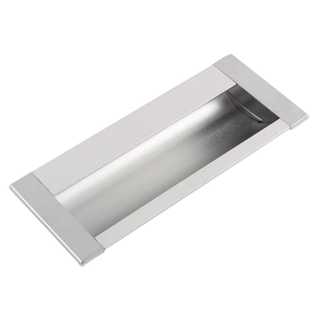 Aluminium Rectangular Cabinet Door Flush Recessed Pull Handle 110mm x 45mm