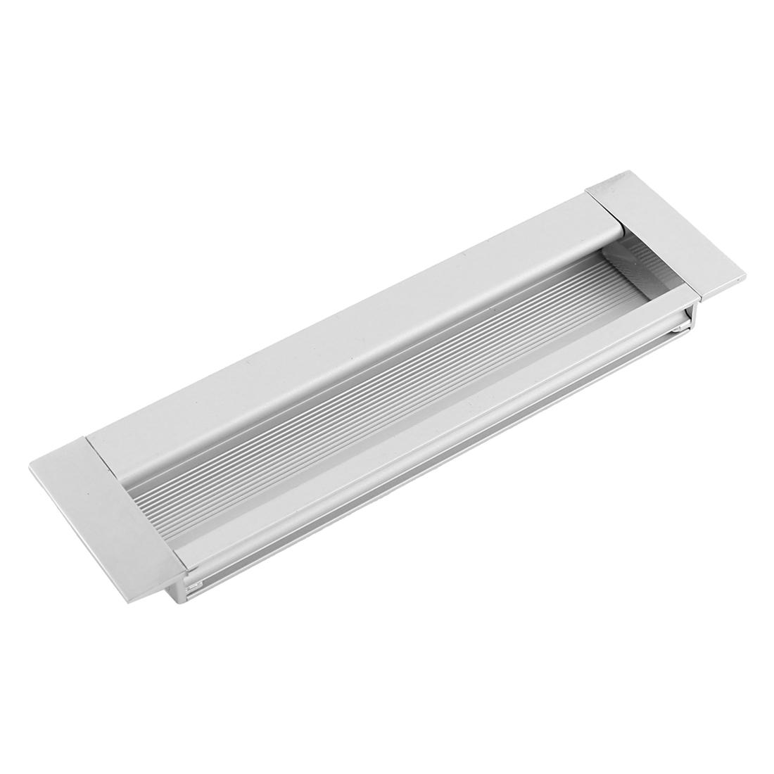 Aluminium Rectangle Cabinet Door Flush Recessed Pull Handle 142mm x 40mm