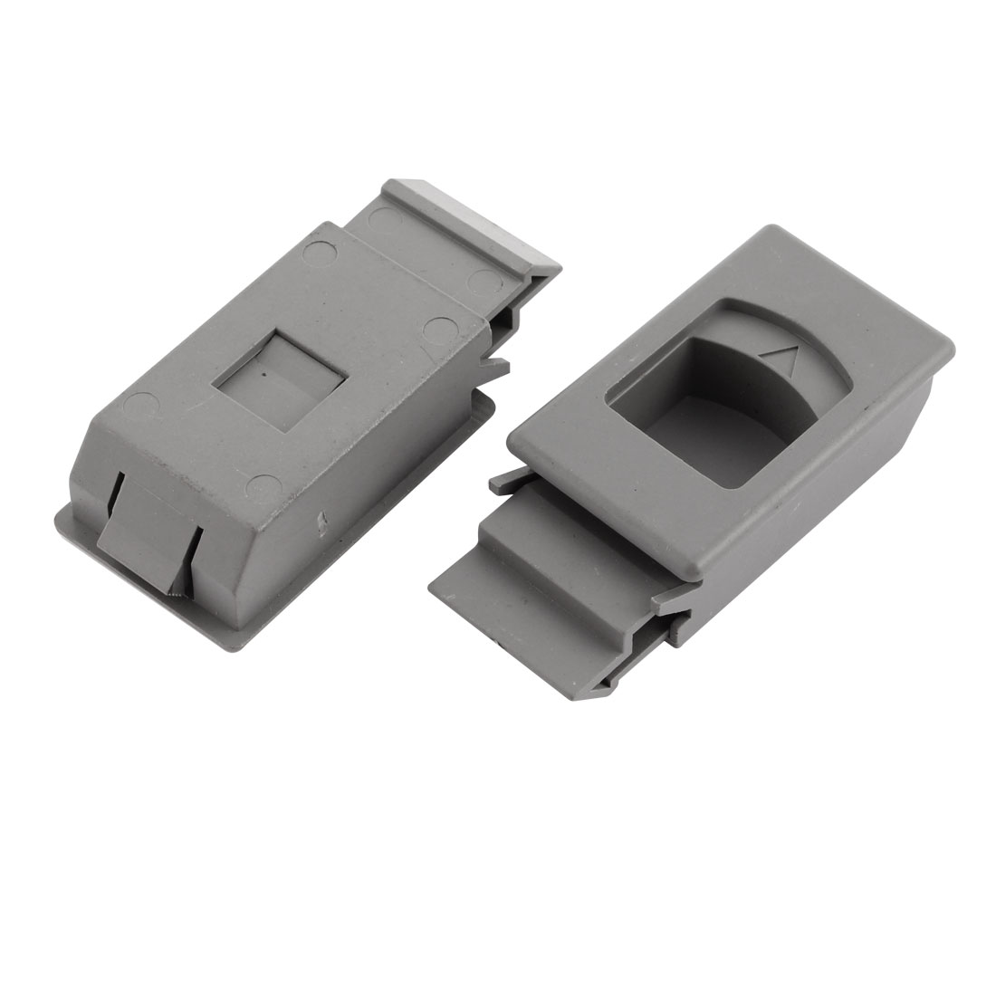 Cabinet Cupboard Drawer Inside Pull Triangle Mark Plastic Side Latch 2 Pcs