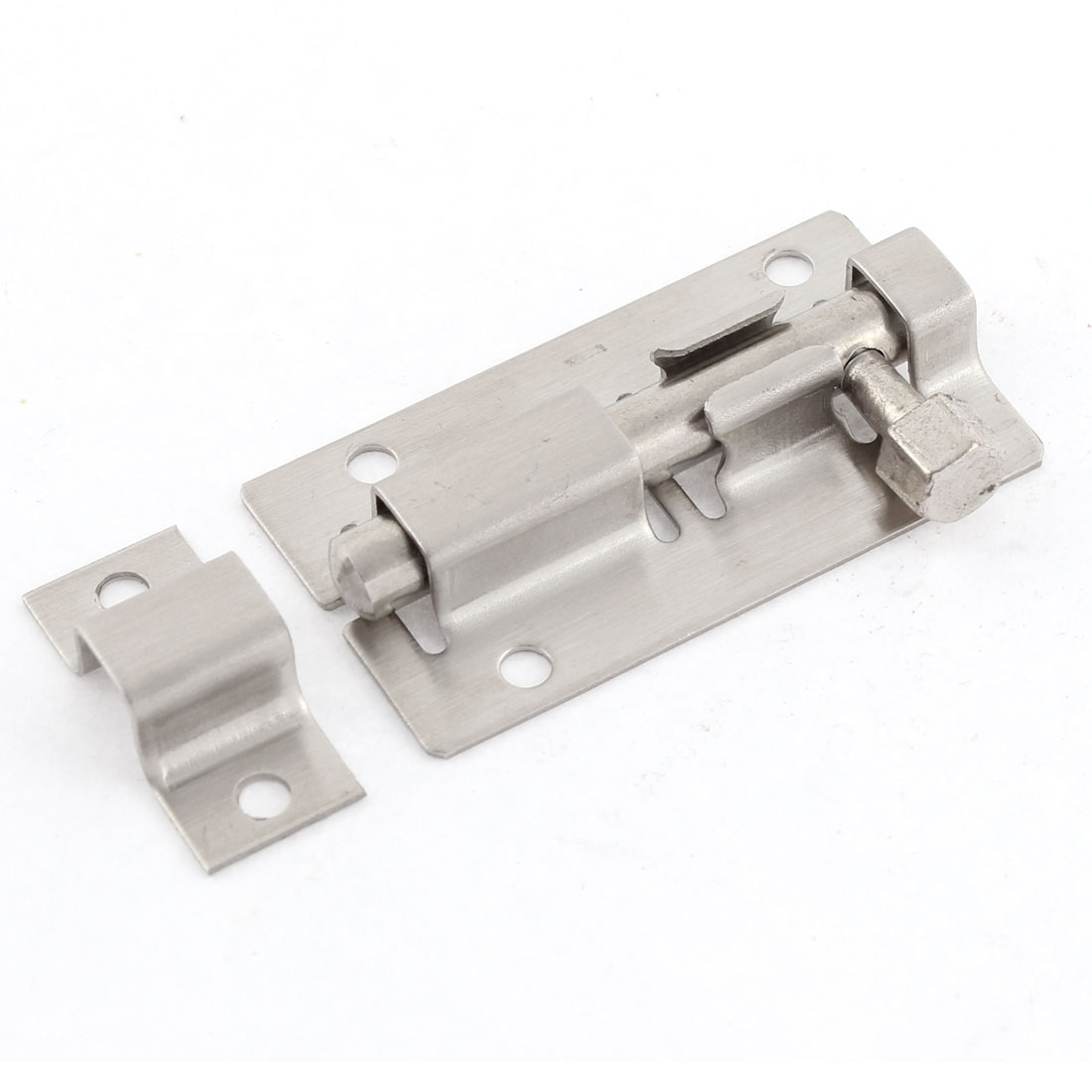 Stainless Steel Gate Lock Safety Door Barrel Bolt Latch Hasp Stapler 2""