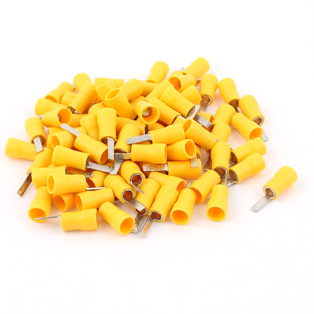 4-6mm2 Wire Electrical Crimp Connectors Insulated Flat Flake Terminal 80pcs