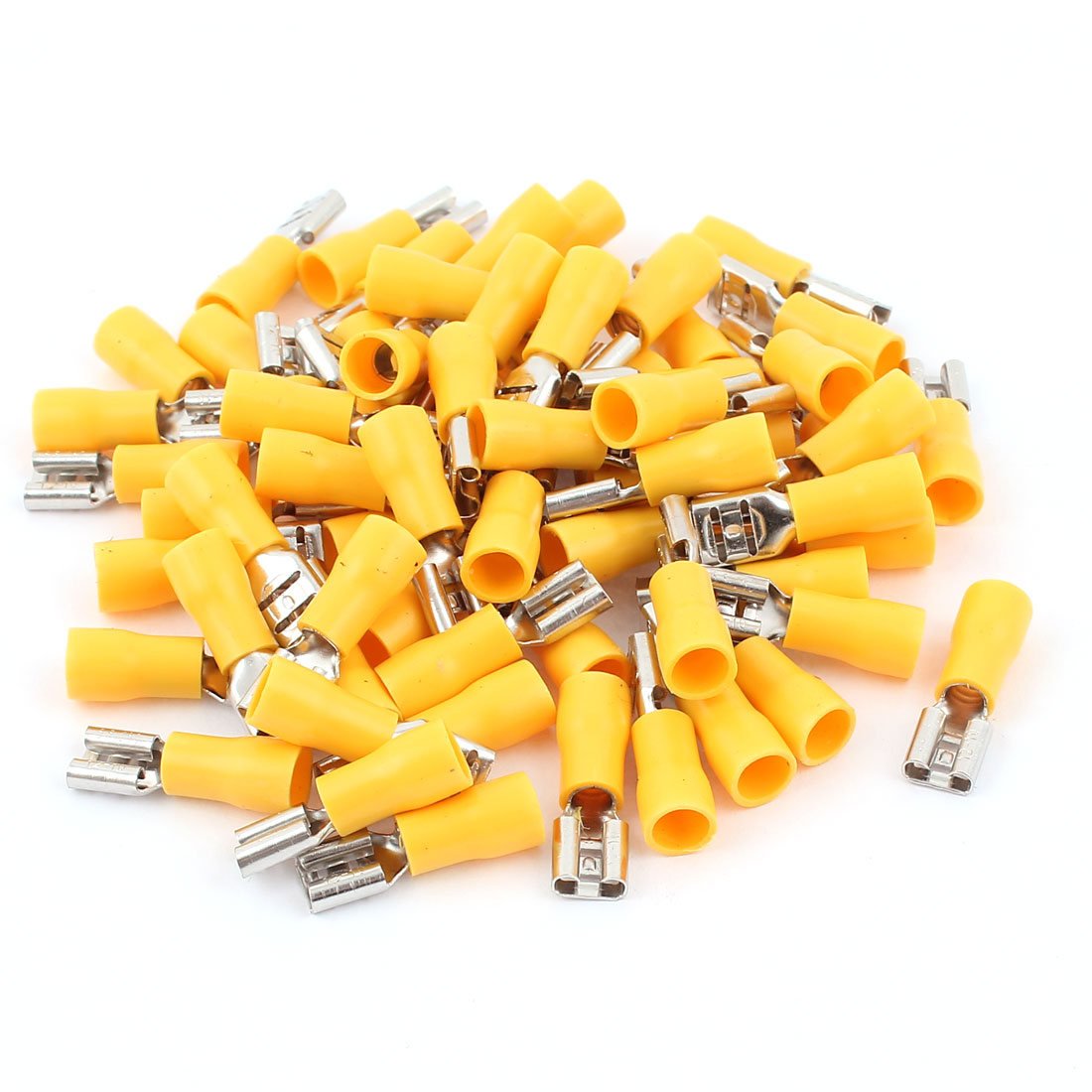 12-10AWG Wire Electrical Insulated Female Spade Connector Crimp Terminals 65pcs
