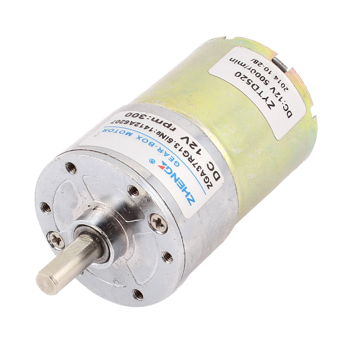 DC 12V 300 RPM 6mm Shaft High Torque Gear-Box Electric Motor