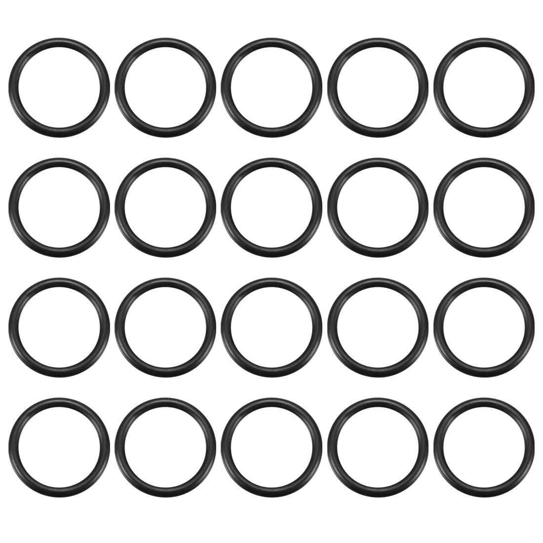 20 Pcs Rubber Gasket O Ring Seal Washers 38mm x 30mm x 4mm for PP-R Pipe Tube